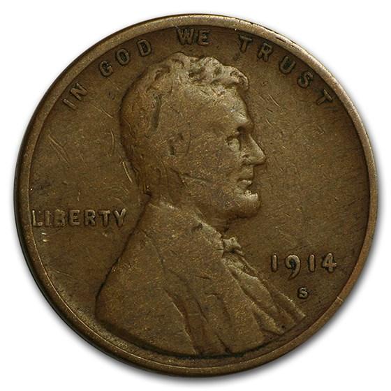 1914-S Lincoln Cent Fine