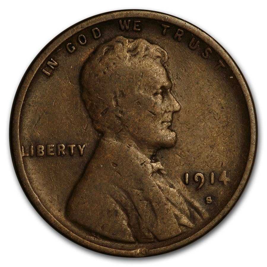 1914-S Lincoln Cent VG