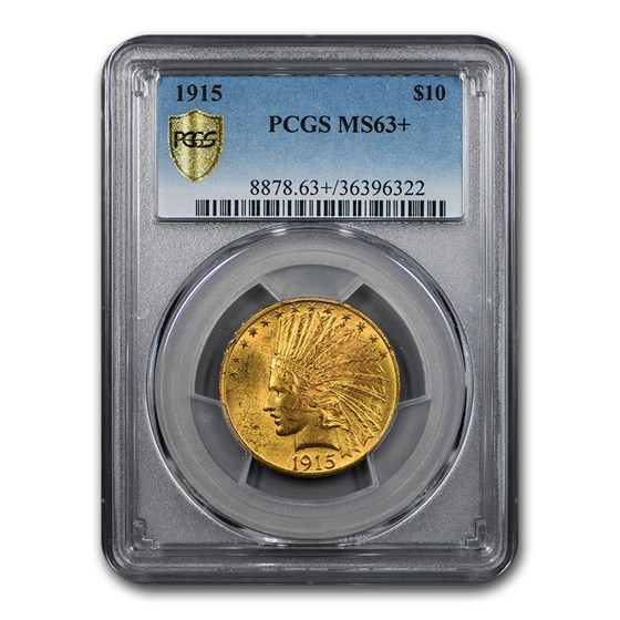 1915 $10 Indian Gold Eagle MS-63+ PCGS