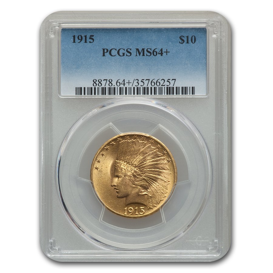 1915 $10 Indian Gold Eagle MS-64+ PCGS