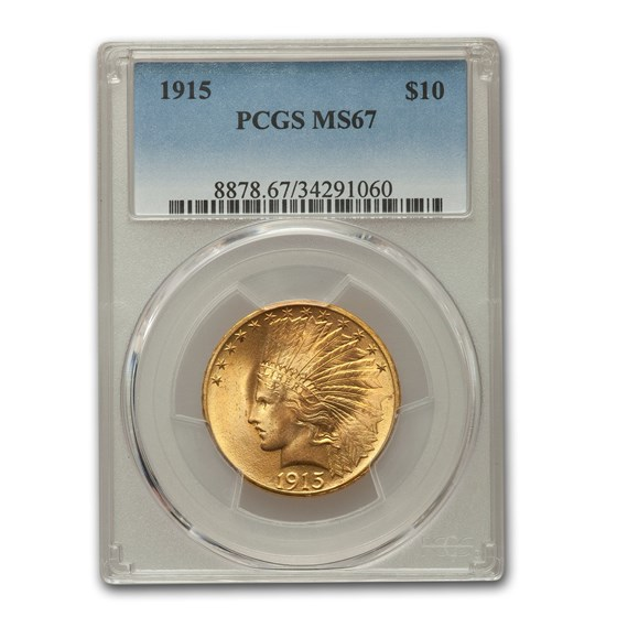 1915 $10 Indian Gold Eagle MS-67 PCGS