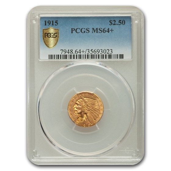 1915 $2.50 Indian Gold Quarter Eagle MS-64+ PCGS
