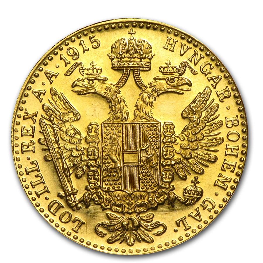 1915 Austria Gold 1 Ducat BU-Prooflike