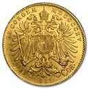 1915 Austria Gold 20 Corona BU (Restrike)