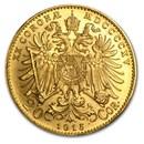 1915 Austria Gold 20 Coronas AU (Restrikes)