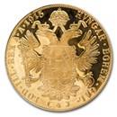 1915 Austria Gold 4 Ducat AU-BU