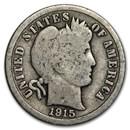 1915 Barber Dime Good/VG