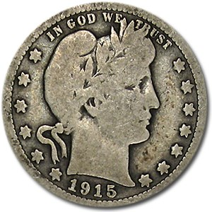 1915 Barber Quarter Good/VG