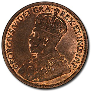 1915 Canada 1 Cent MS-63 Red/Brown