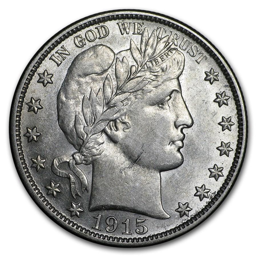 1915-D Barber Half Dollar AU
