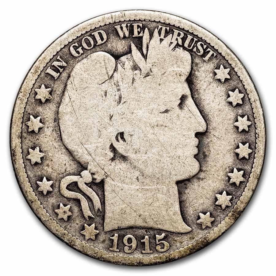 1915-D Barber Half Dollar Good
