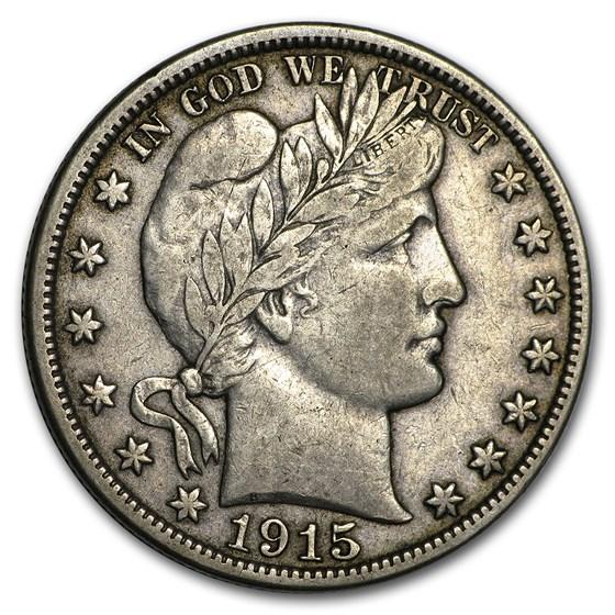 1915-D Barber Half Dollar VF