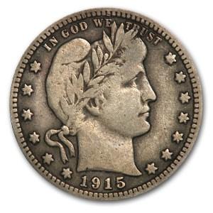 1915-D Barber Quarter Fine