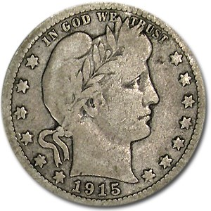 1915-D Barber Quarter Good/VG