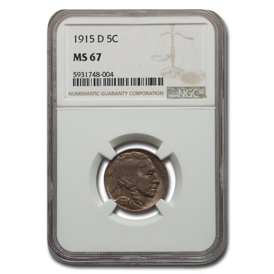 1915-D Buffalo Nickel MS-67 NGC
