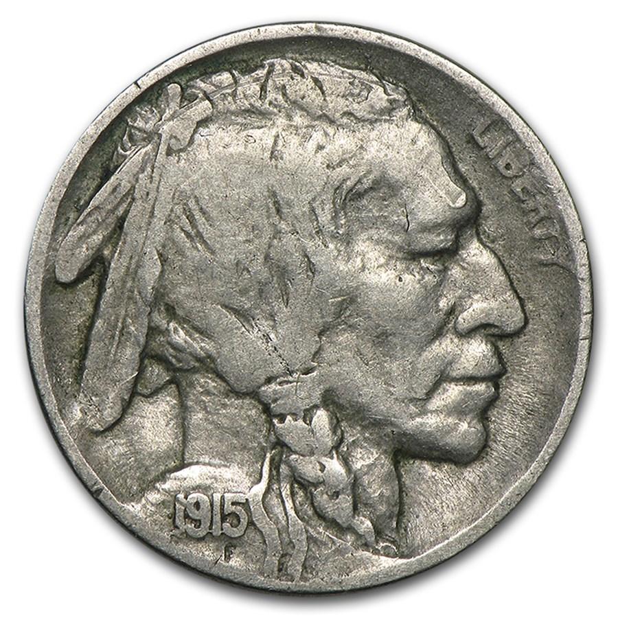 1915-D Buffalo Nickel VF