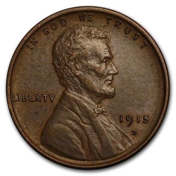 1915-D Lincoln Cent AU