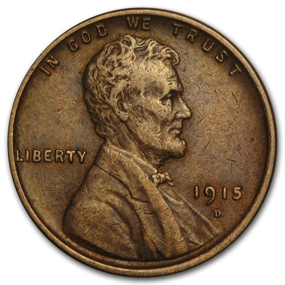 1915-D Lincoln Cent XF