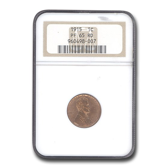 1915 Lincoln Cent PF-65 NGC (Red)