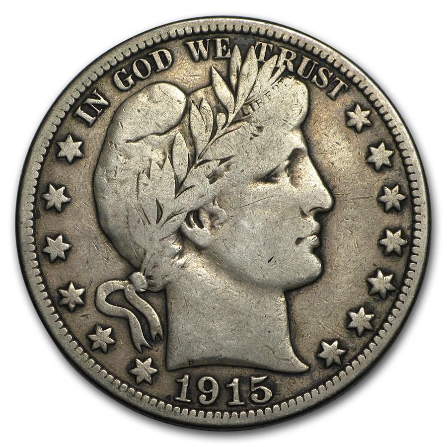 1915-S Barber Half Dollar Fine