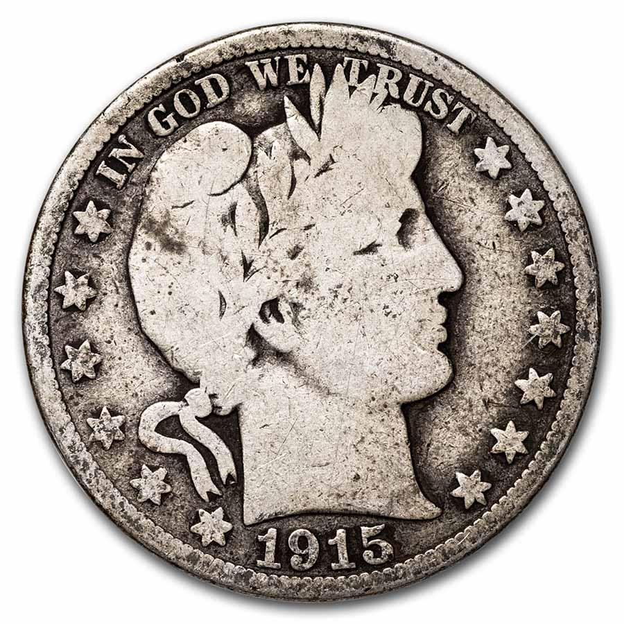 1915-S Barber Half Dollar Good