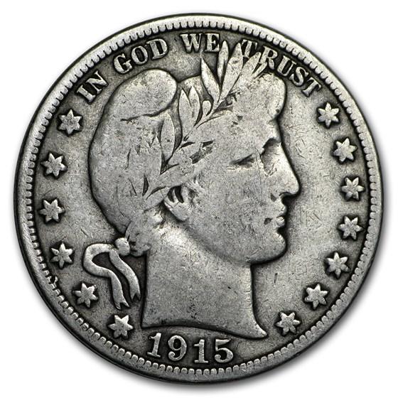 1915-S Barber Half Dollar VG