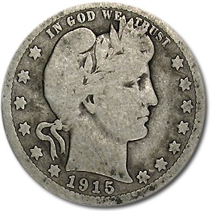 1915-S Barber Quarter Good