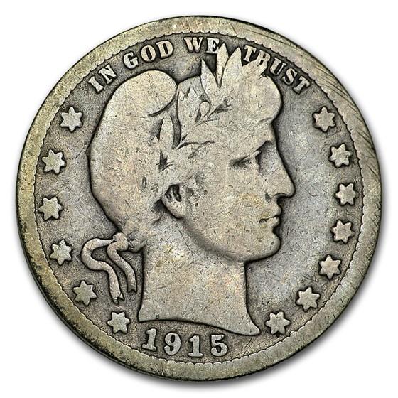 1915-S Barber Quarter VG