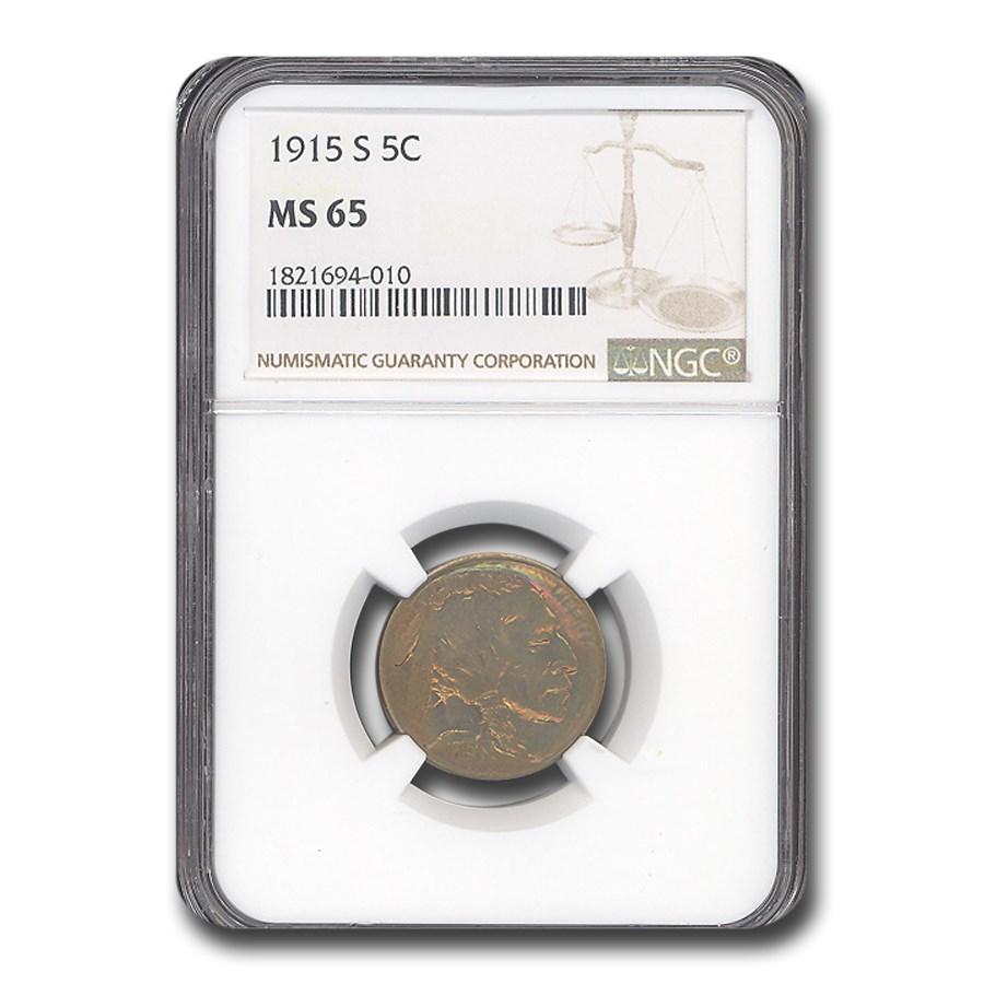1915-S Buffalo Nickel MS-65 NGC