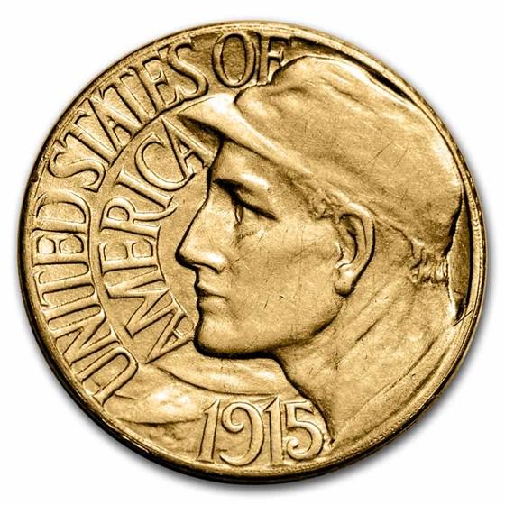 1915-S Gold $1.00 Panama-Pacific AU