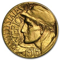 1915-S Gold $1.00 Panama-Pacific BU