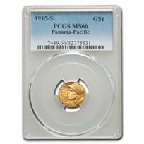 1915-S Gold $1.00 Panama-Pacific MS-66 PCGS