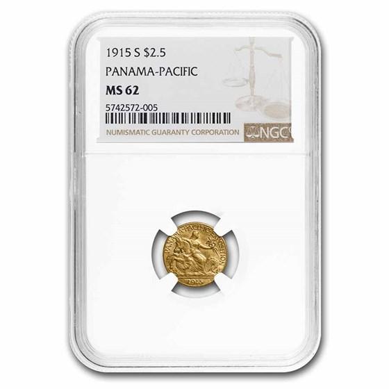 1915-S Gold $2.50 Panama-Pacific MS-62 NGC