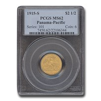 1915-S Gold $2.50 Panama-Pacific MS-62 PCGS