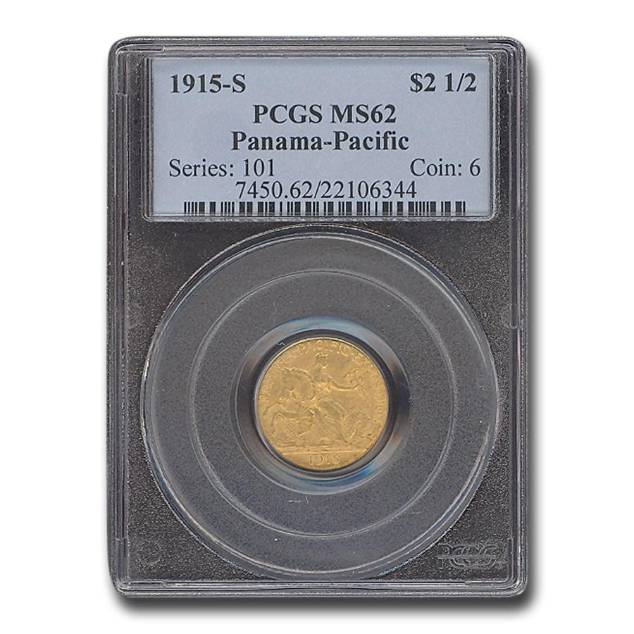 1915-S Gold $2.50 Panama-Pacific MS-62 PCGS