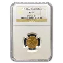 1915-S Gold $2.50 Panama-Pacific MS-64 NGC