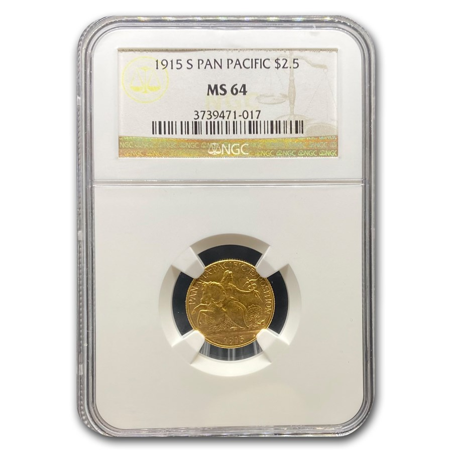1915-S Gold $2.50 Panama-Pacific MS-64 NGC