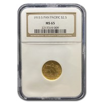 1915-S Gold $2.50 Panama-Pacific MS-65 NGC