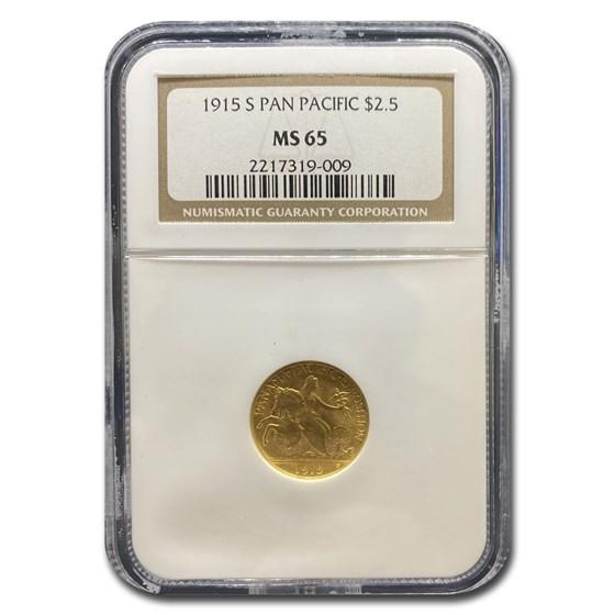 1915-S Gold $2.50 Panama-Pacific MS-65 NGC