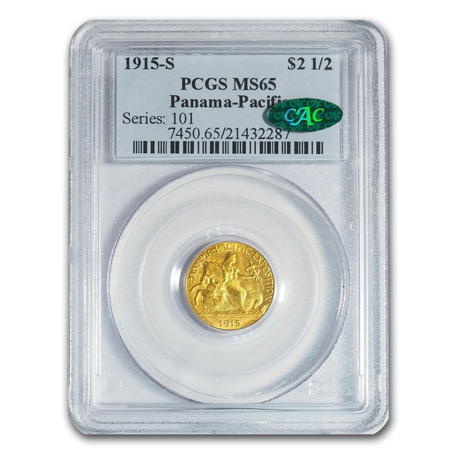 1915-S Gold $2.50 Panama-Pacific MS-65 PCGS CAC