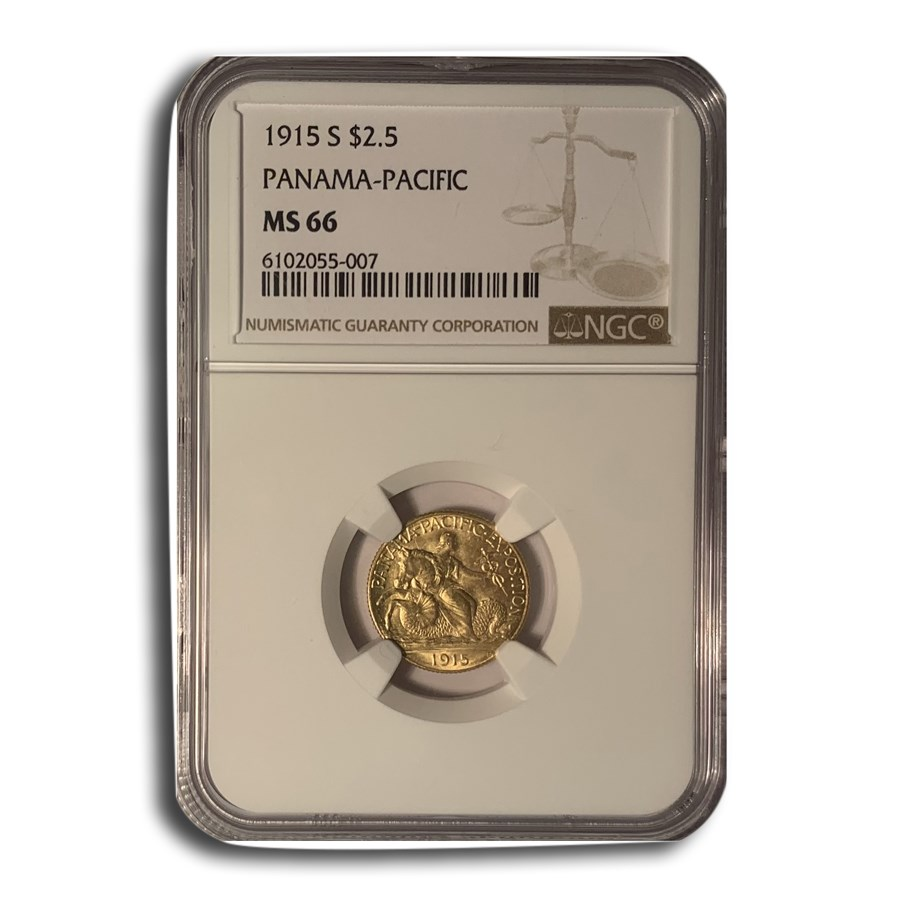1915-S Gold $2.50 Panama-Pacific MS-66 NGC