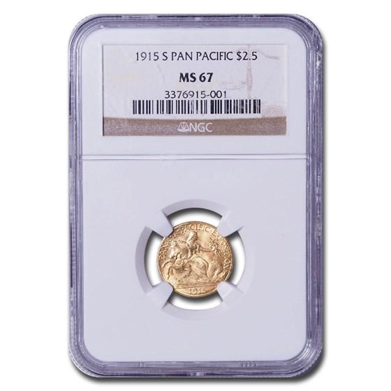 1915-S Gold $2.50 Panama-Pacific MS-67 NGC