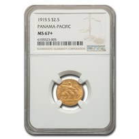 1915-S Gold $2.50 Panama-Pacific MS-67+ NGC