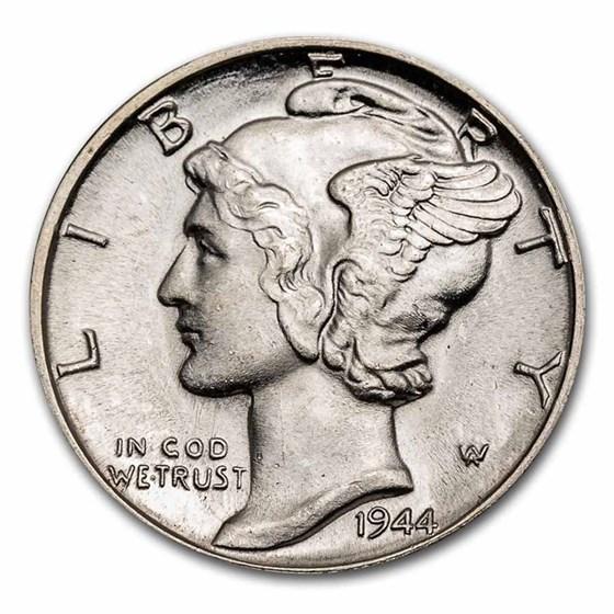 1916-1945 90% Silver Mercury Dimes BU (Mixed Dates)