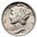 1916-1945 Mercury Dimes AU (Random Dates)