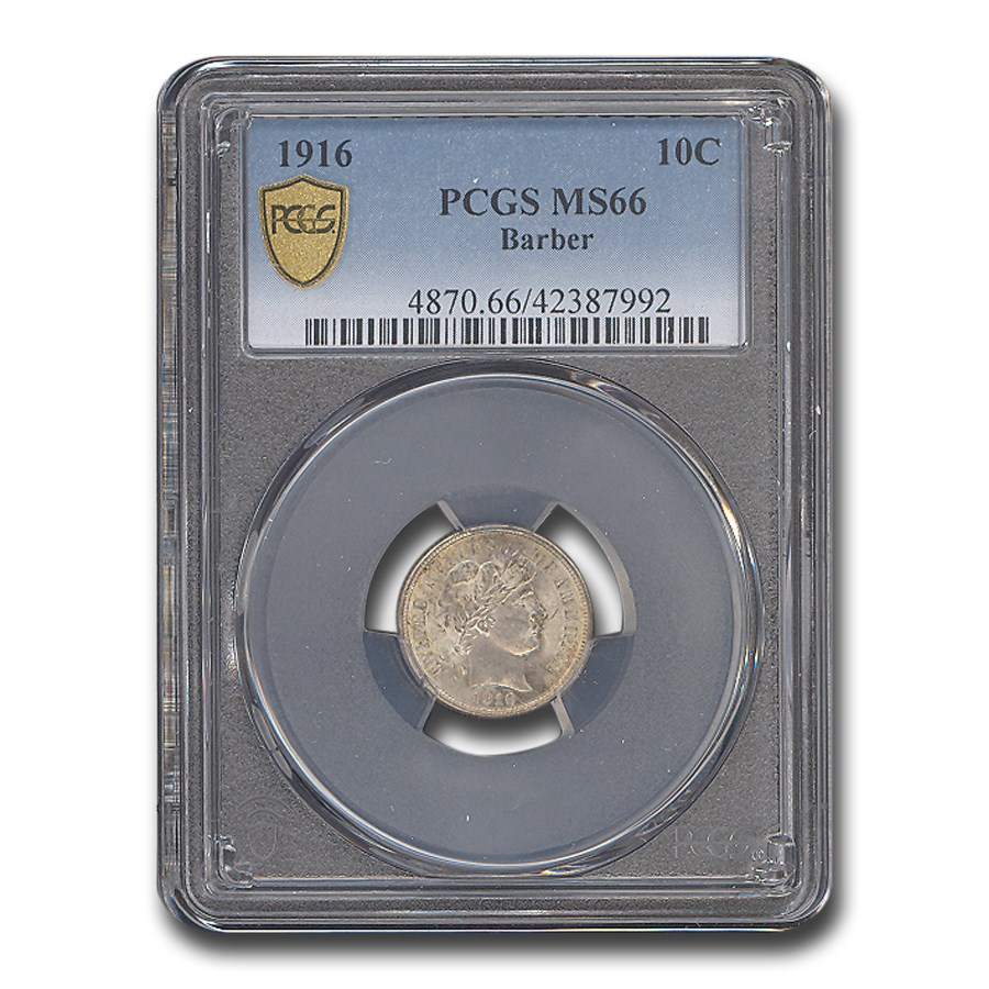 1916 Barber Dime MS-66 PCGS