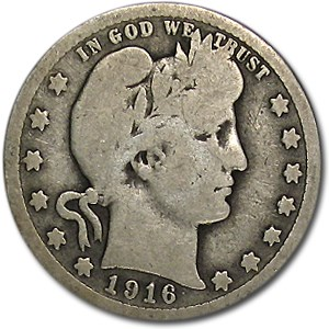1916 Barber Quarter Good/VG