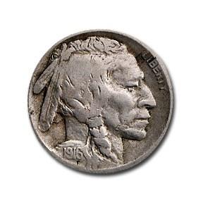 1916 Buffalo Nickel Fine