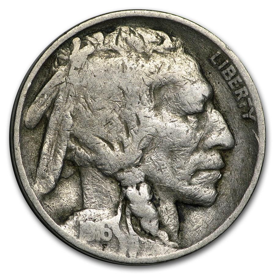 1916 Buffalo Nickel Good/VG