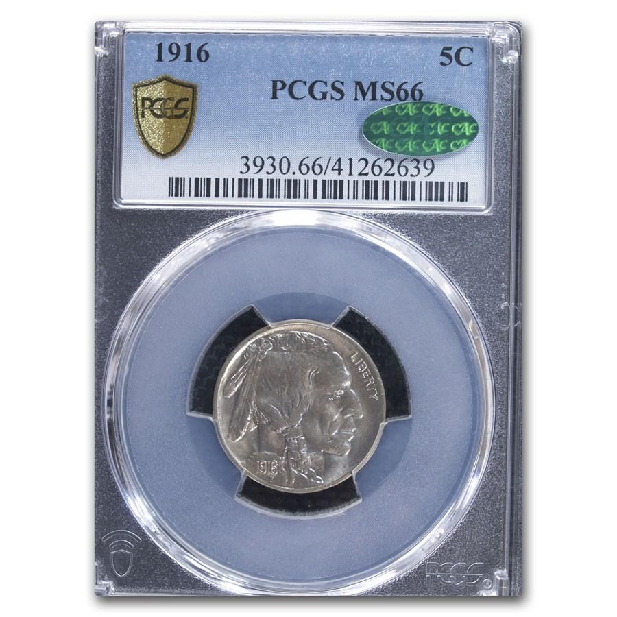 1916 Buffalo Nickel MS-66 PCGS CAC